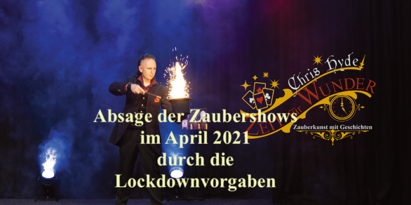 Show-Absage für April